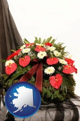 alaska a funeral flower wreath