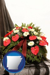 arkansas a funeral flower wreath