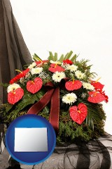 colorado a funeral flower wreath