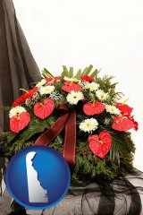 delaware a funeral flower wreath