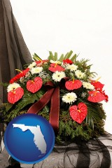 florida a funeral flower wreath