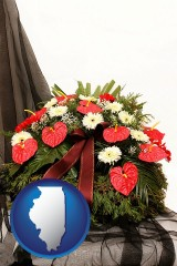 illinois a funeral flower wreath