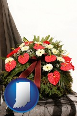 indiana a funeral flower wreath