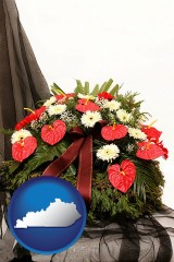 kentucky a funeral flower wreath
