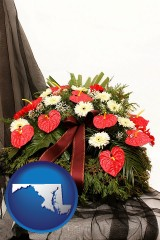maryland a funeral flower wreath