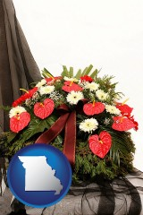 missouri a funeral flower wreath