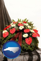 north-carolina a funeral flower wreath