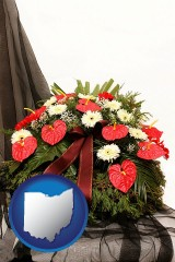 ohio a funeral flower wreath