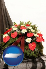 tennessee a funeral flower wreath
