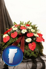 vermont a funeral flower wreath