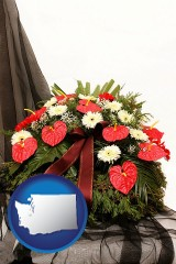 washington a funeral flower wreath