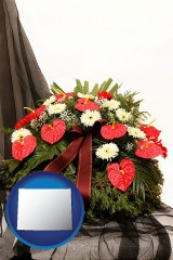 wyoming a funeral flower wreath